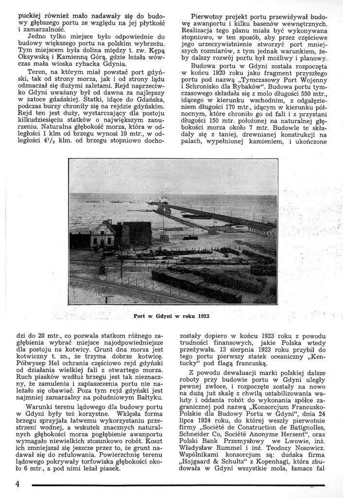 Rzut oka na warunki powstania portu w Gdyni 3