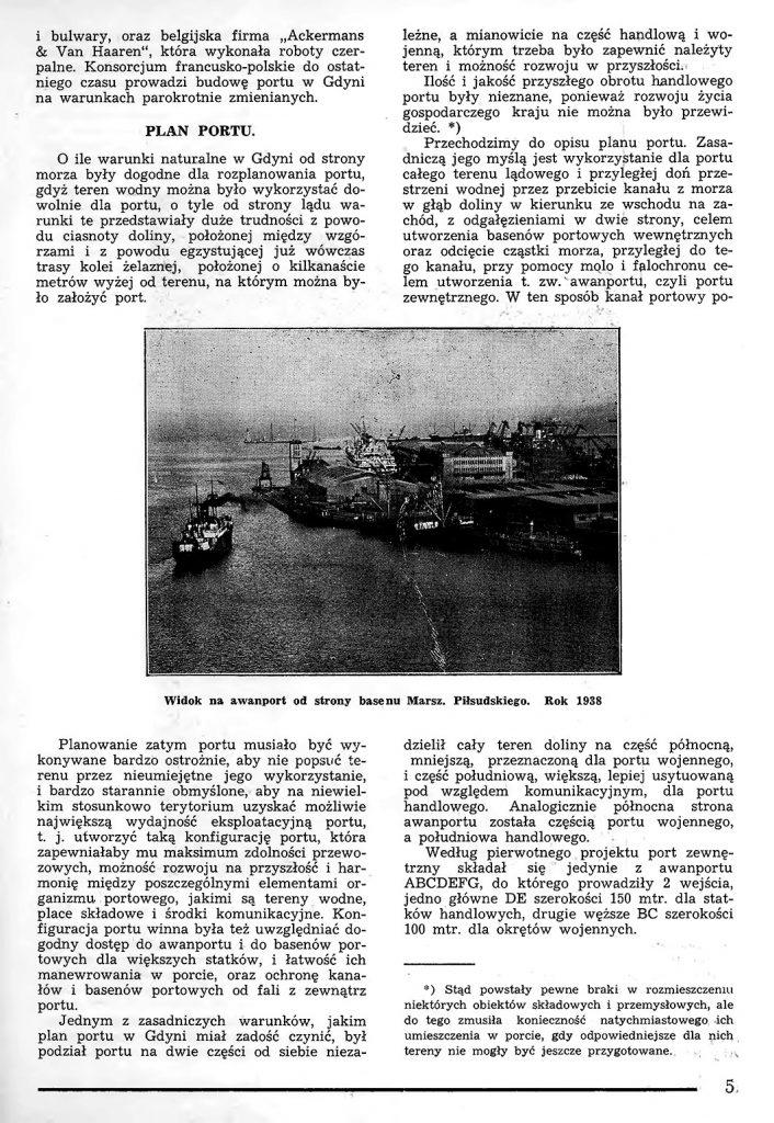 Rzut oka na warunki powstania portu w Gdyni 4