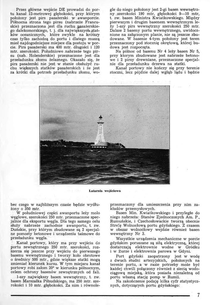 Rzut oka na warunki powstania portu w Gdyni 6