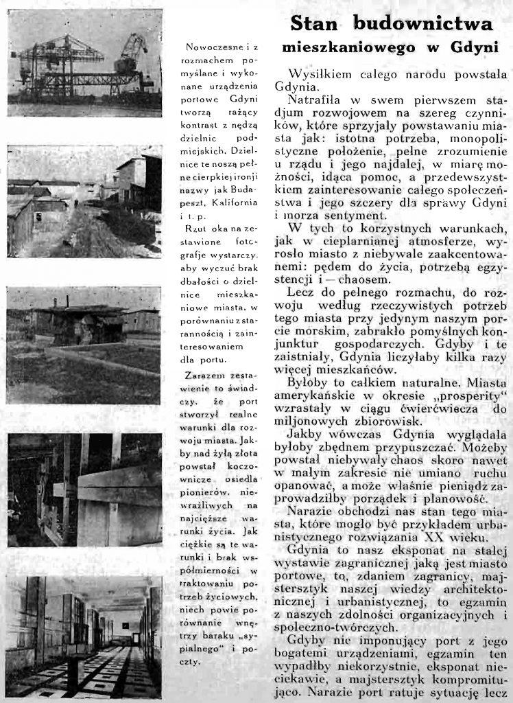 Stan budownictwa mieszkaniowego w Gdyni 1