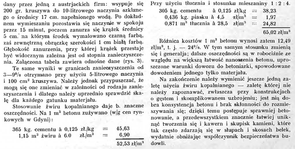 W sprawie użycia żwiru kopalnianego (pospółki do konstrukcji żelbetowych)