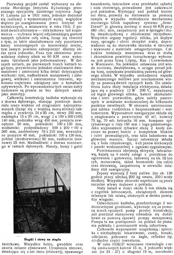 Warunki krajowej budowy drewnianych statków ryvackich