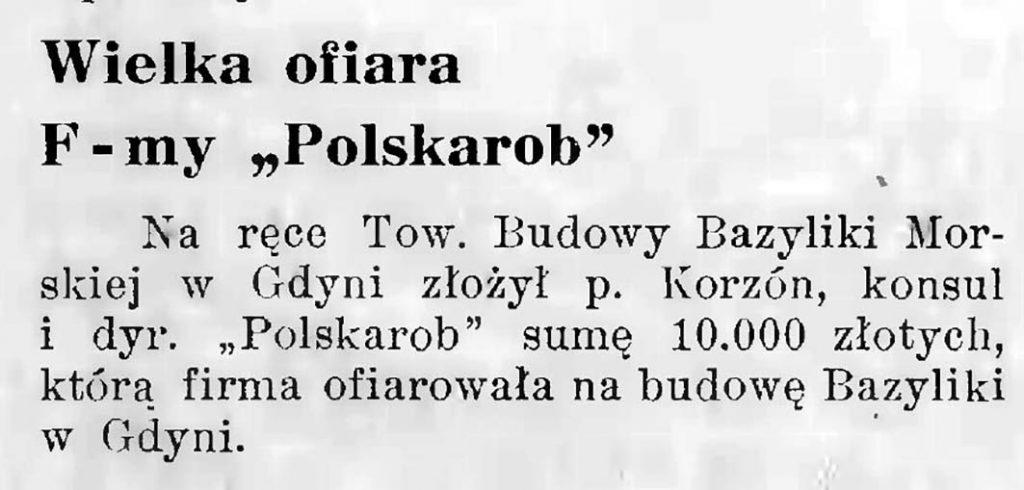 Wielka ofiara f-my Polskarob