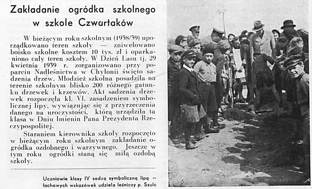 Zakładanie ogródka szkolnego w szkole Czwartaków
