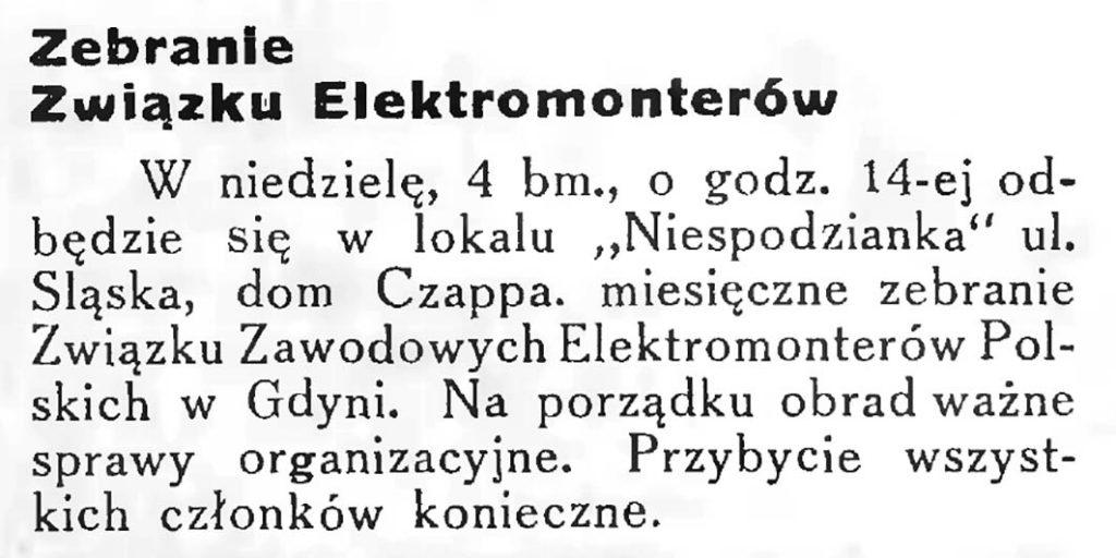 Zebranie związku elektromonterów