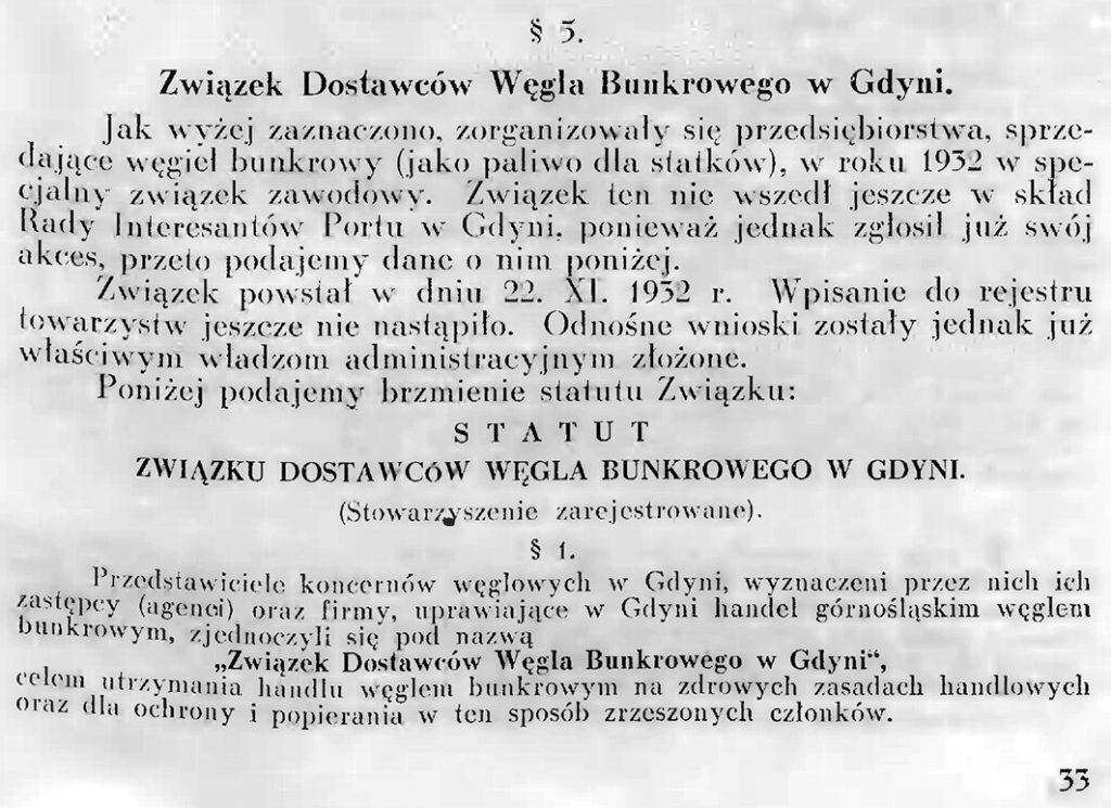 Związek Dostawców Węgla Bunkrowego w Gdyni