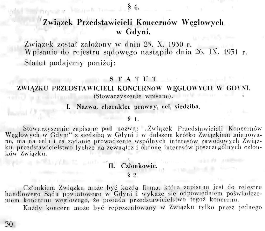 Związek Przedstawicieli Koncernów Węglowych w Gdyni