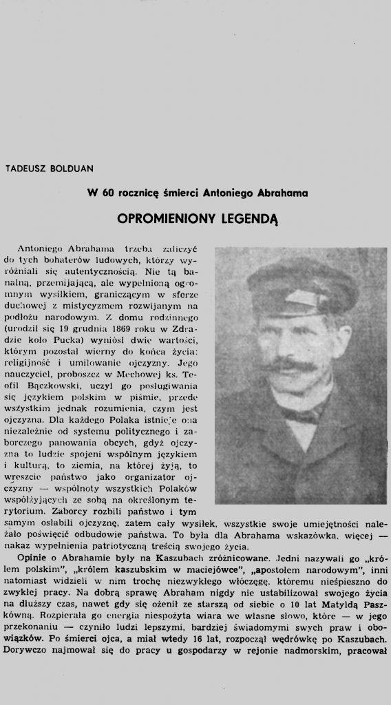 Abraham Antoni (1869-1923) Opromieniony legendą: w 60 rocznicę śmierci Antoniego Abrahama