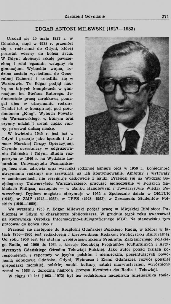 Edgar Antoni Milewski (1927-1983)