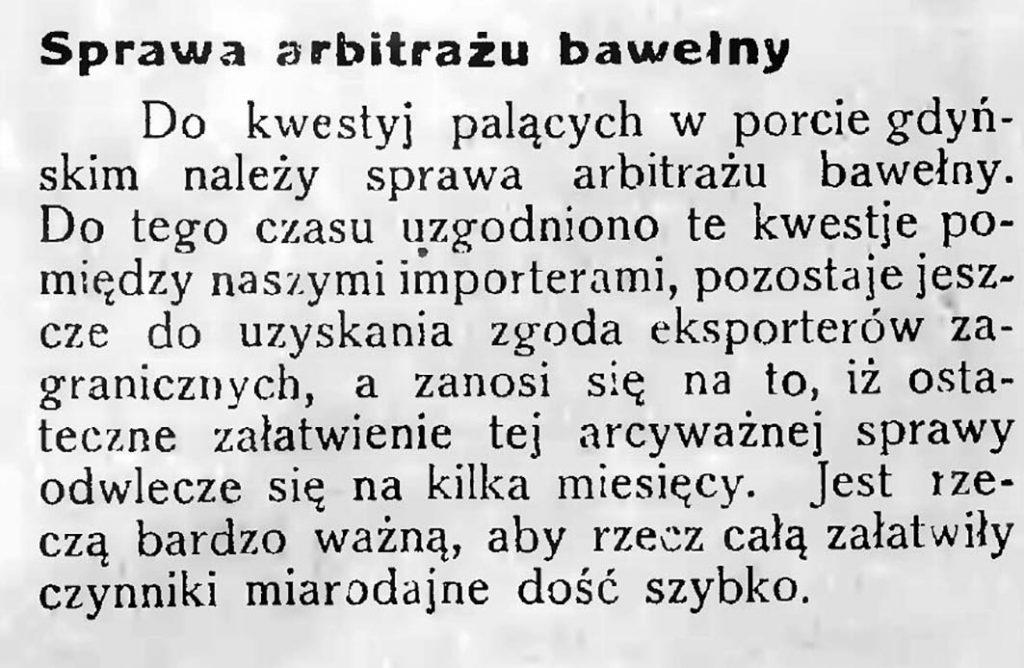 Sprawa arbitrażu bawełny