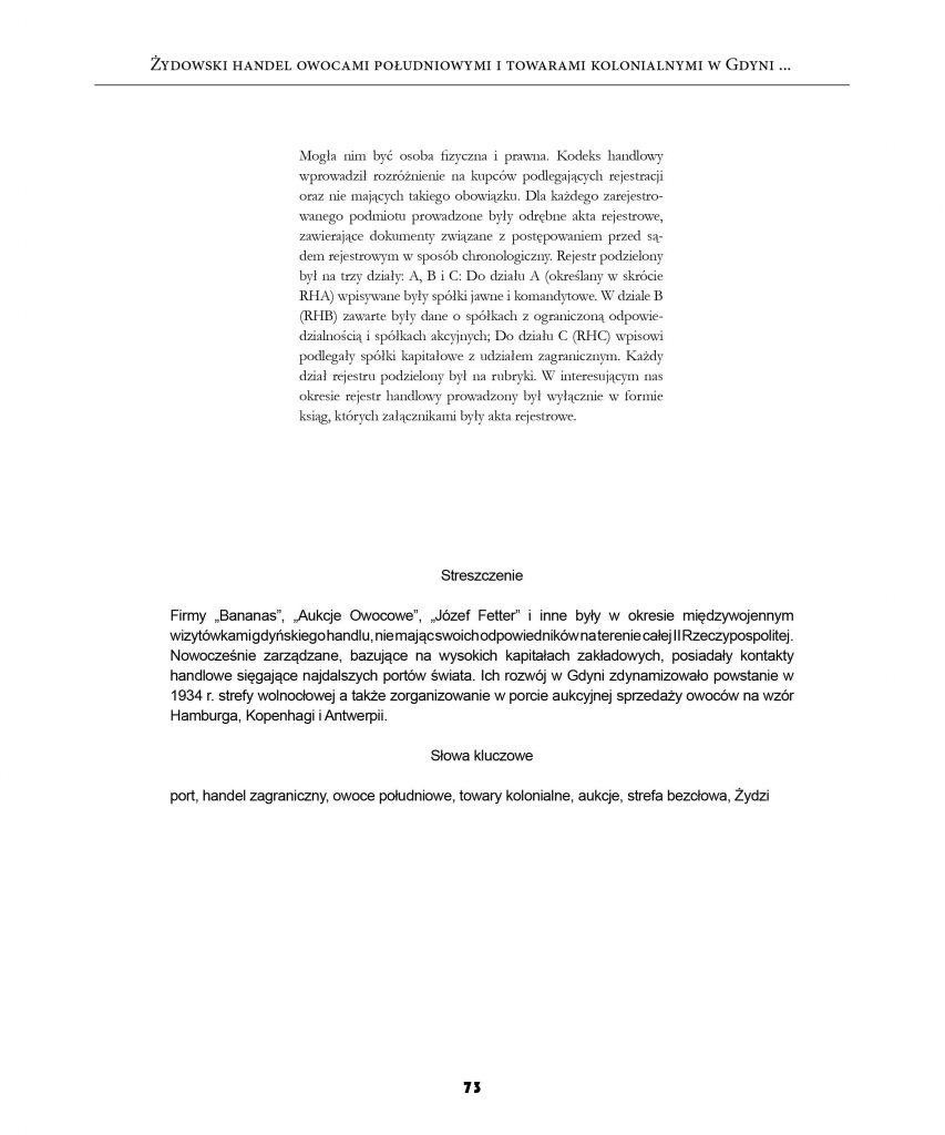 Żydowski handel owocami południowymi i towarami kolonialnymi w Gdyni7