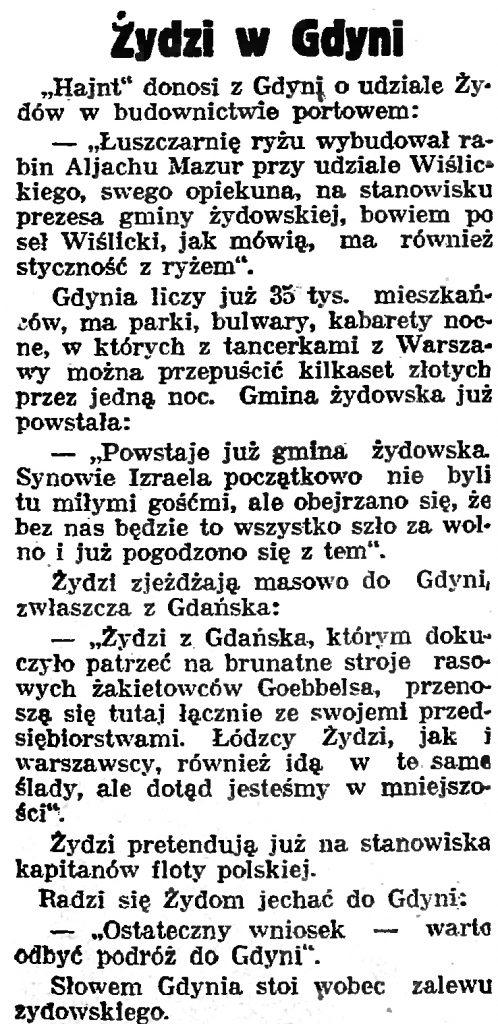Żydzi w Gdyni