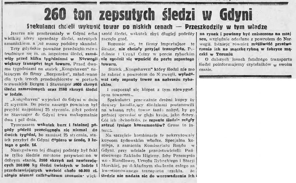 260 ton zepsutych śledzi w Gdyni. Spekulanci chcieli wykupić towar po niskich cenach - Przeszkodziły w tym władze