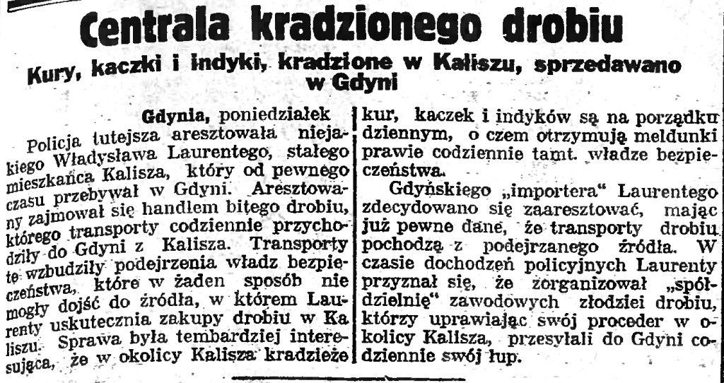 Centrala kradzionego drobiu. Kury, kaczkii indyki, kradzione w Kaliszu sprzedawano w Gdyni