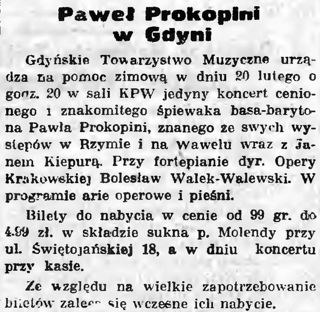 Paweł Prokoplni w Gdyni