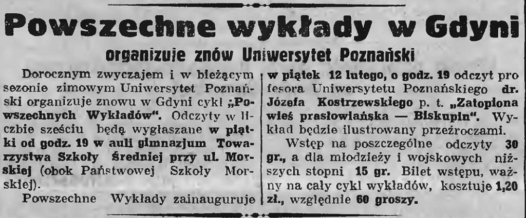 Powszechne wykłady w Gdyni organizuje znów Uniwersytet Poznański