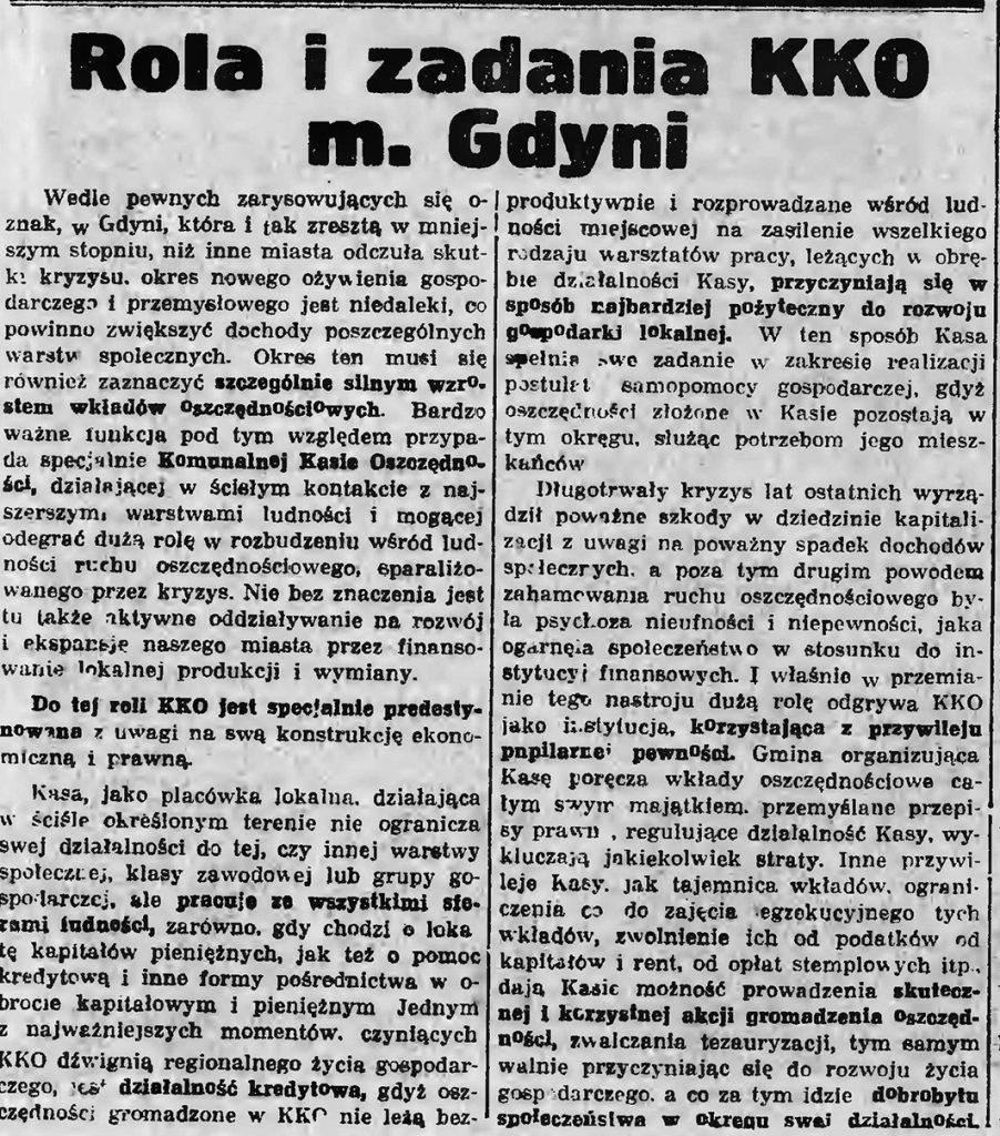 Rola i zadania KKO m. Gdyni