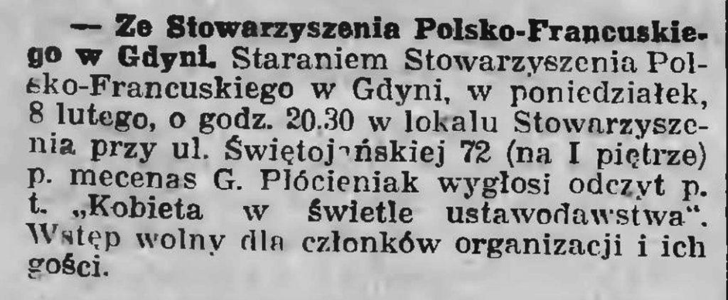 Ze Stowarzyszenia Polsko-Francuskiego w Gdyni