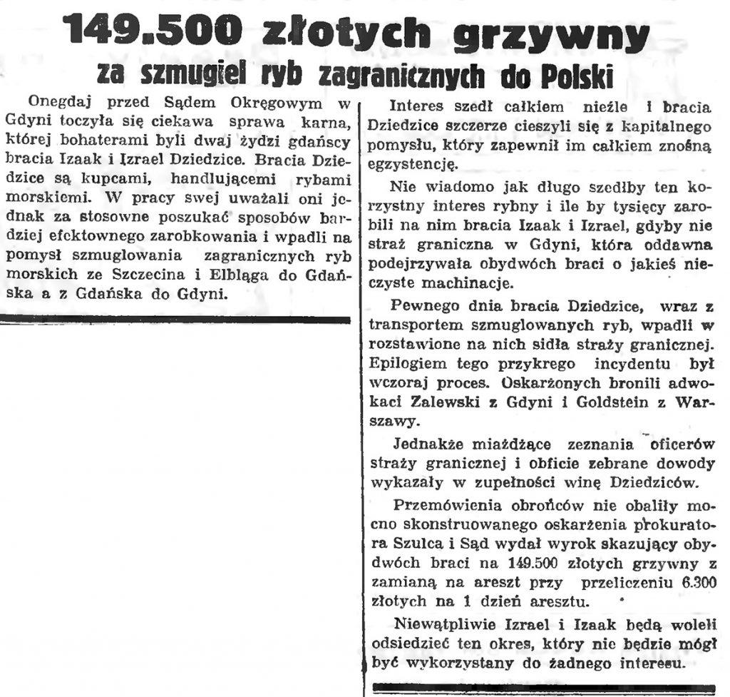 149.500 złotych grzywny za szmugiel ryb zagranicznych do Polski