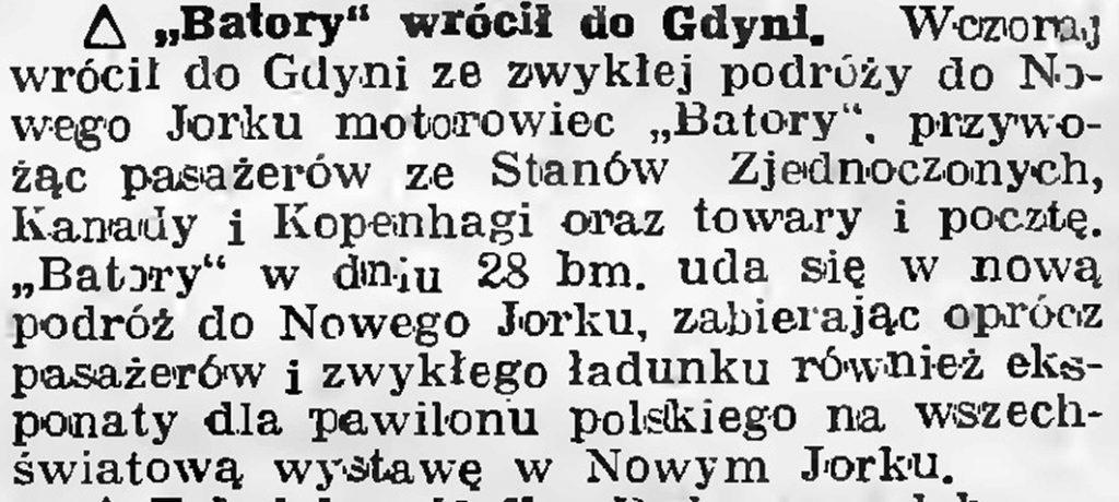 Batory wrócił do Gdyni