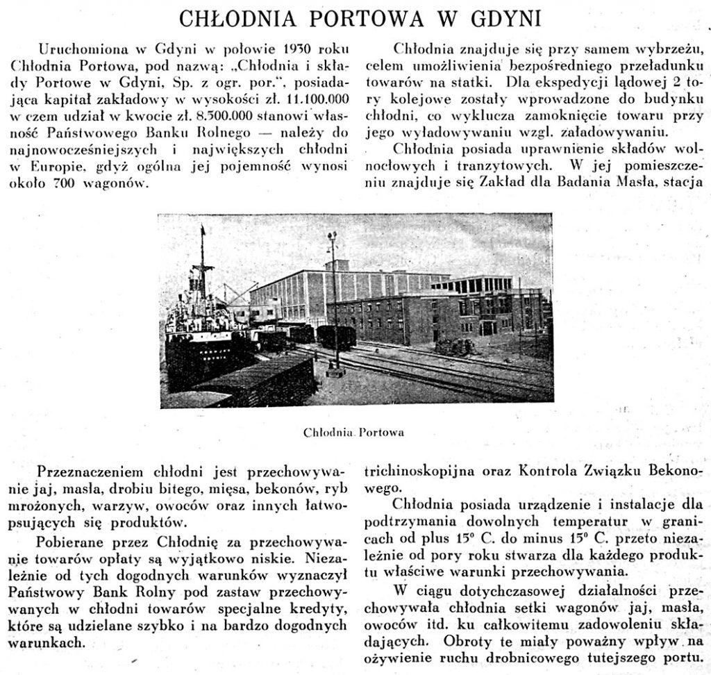 Chłodnia Portowa w Gdyni