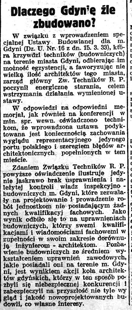 Dlaczego Gdynię źle zbudowano