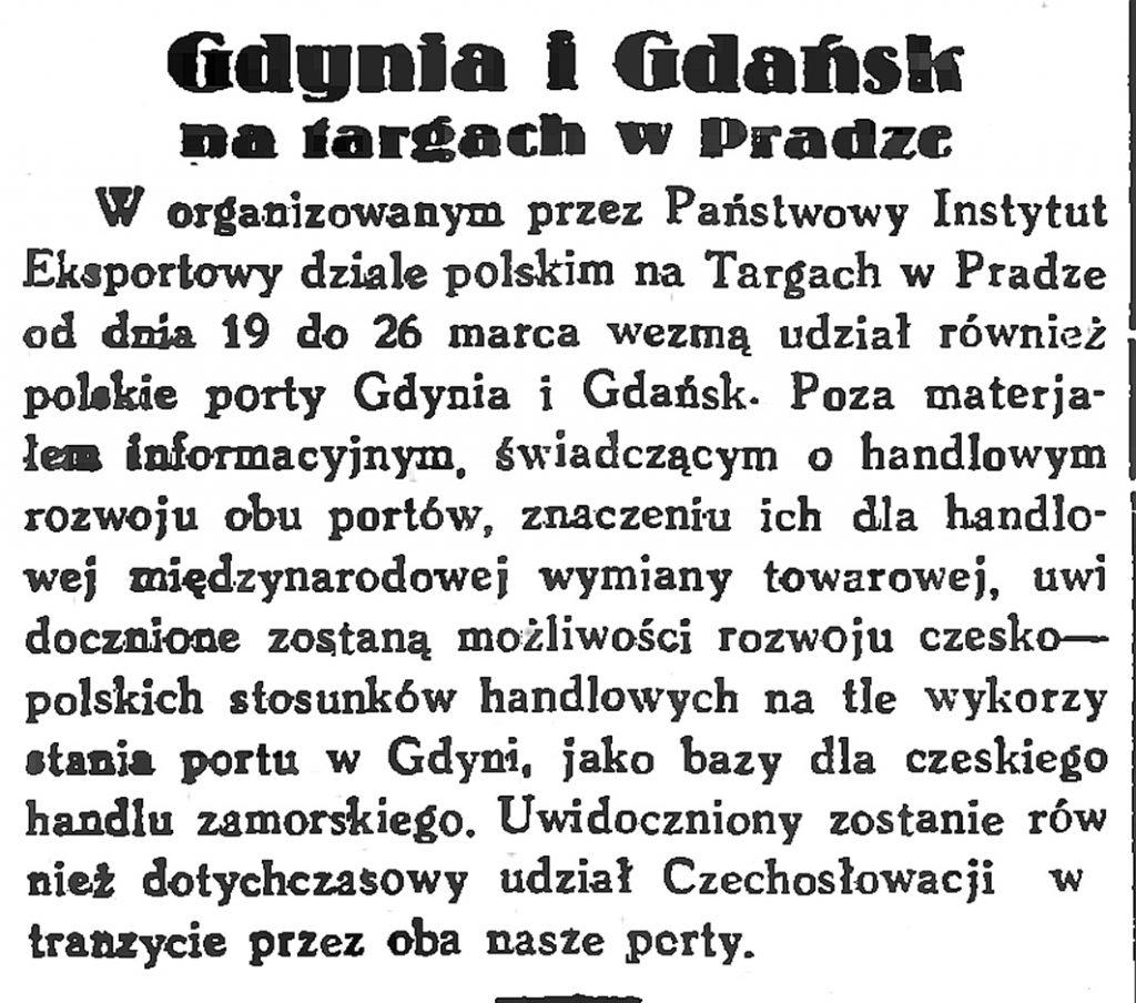 Gdynia i Gdańsk na targach w Pradze