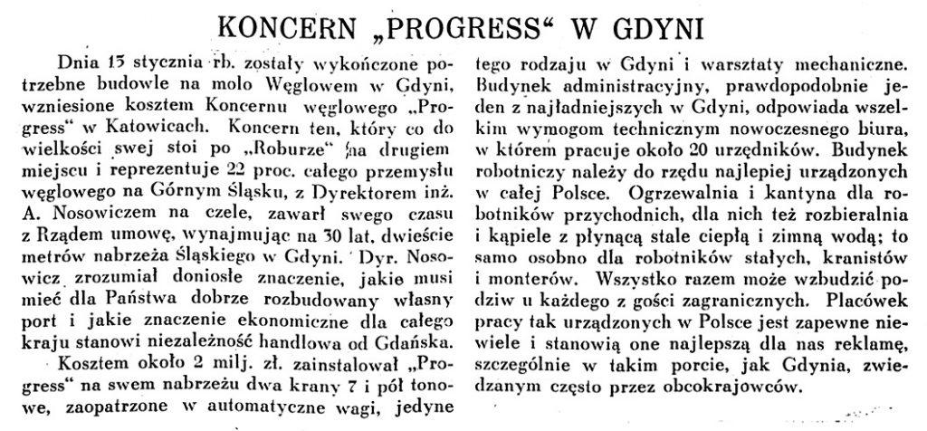 Koncern PROGRES w Gdyni