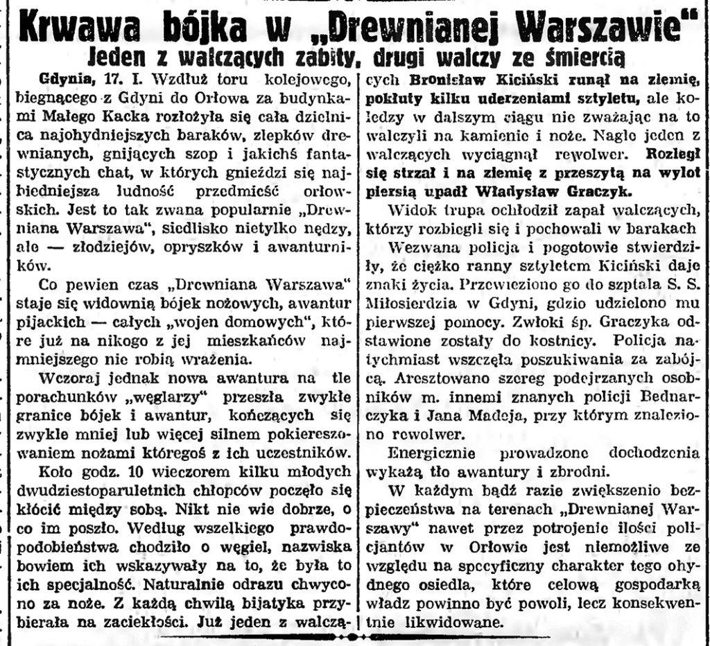 Krwawa bójka w Drewnianej Warszawie. Jeden z walczących zabity, drugi walczy ze śmiercią