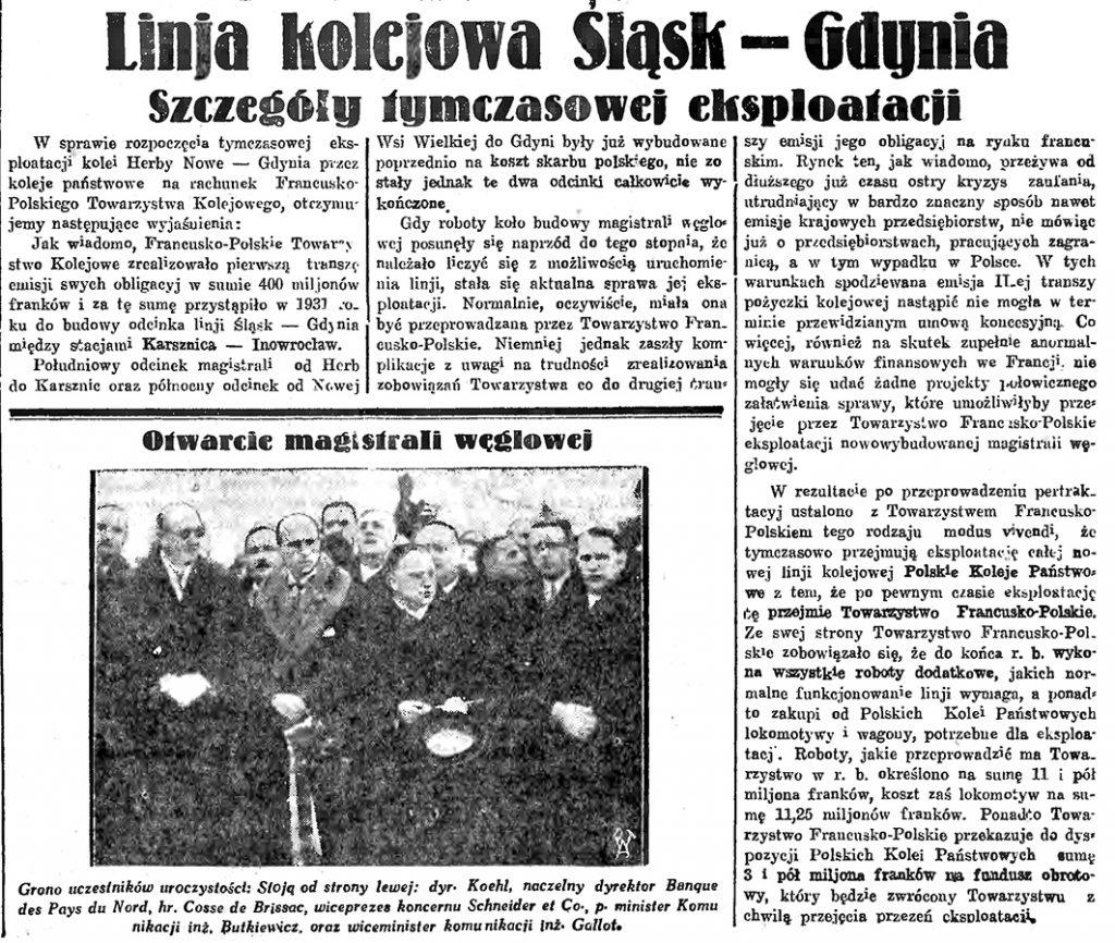 Linja kolejowa Śląsk - Gdynia. Szczegóły tymczasowej eksploatacji