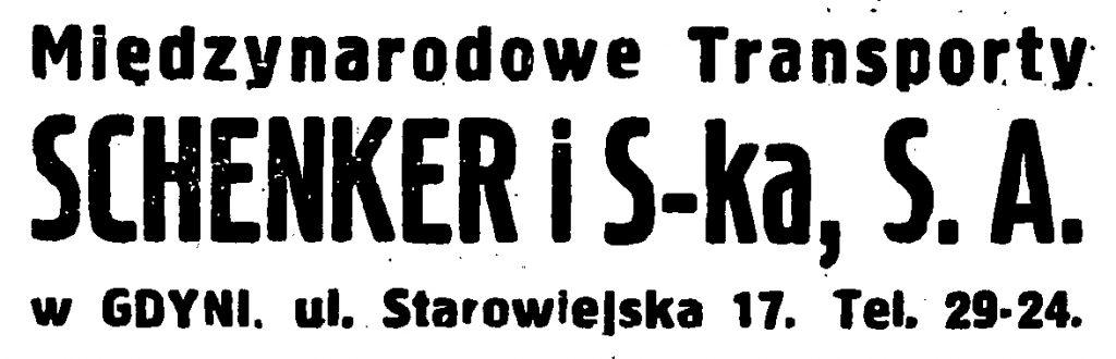 Międzynarodowe Transporty Schenker i S-ka, .S.A. w Gdyni