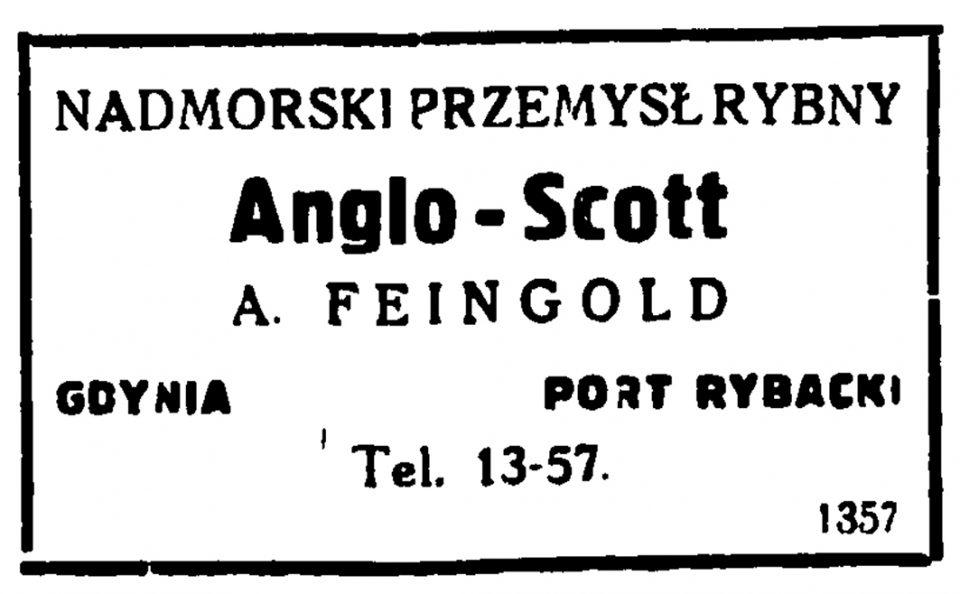 Nadmorski Przemysł Rybny Anglo Scott A. Feingold