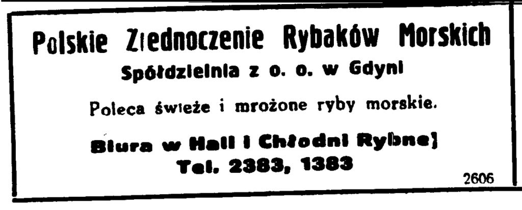 Polskie Zjednoczenie Rybaków Morskich w Gdyni Spółdzielnia z o.o. w Gdyni