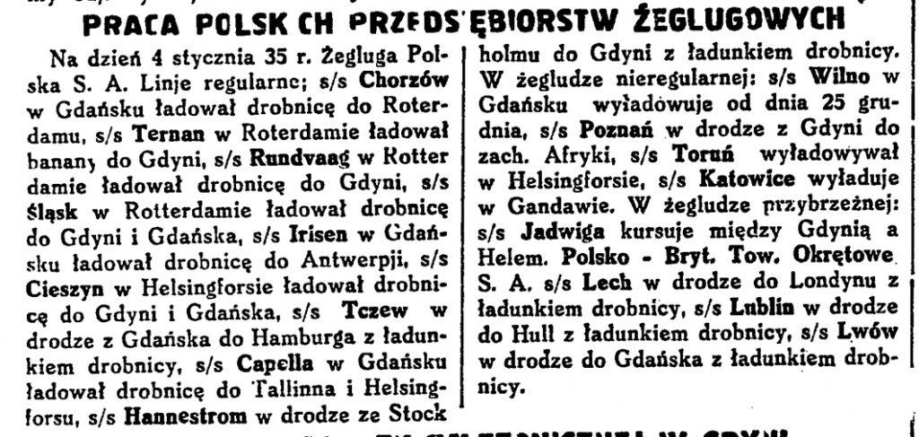 Praca polskich przedsiębiorstw żeglugowych