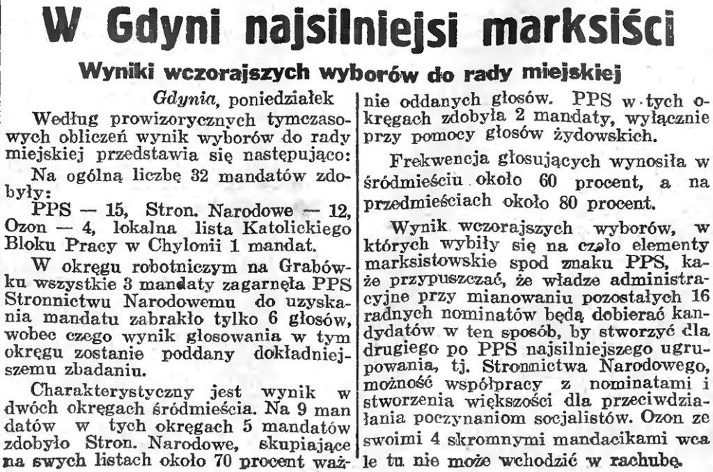 W Gdyni najsilniejsi marksiści. Wyniki wyborów do Rady Miejskiej