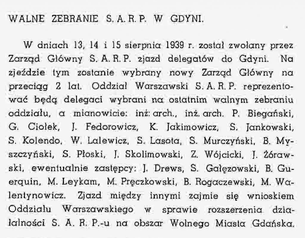 Walne zebranie S.A.R.P. w Gdyni