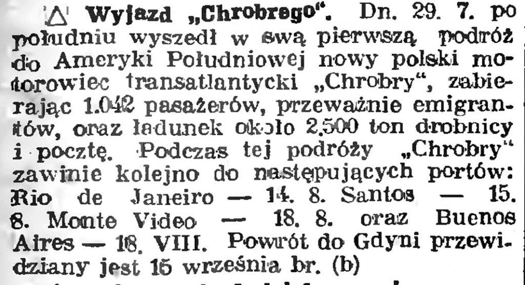 """Wyjazd """"Chrobrego"""""""