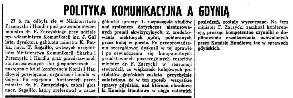 Polityka komunikacyjna a Gdynia