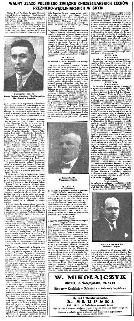 Walny Zjazd Polskiego Związku Chrześcijańskich Cechów Rzeźnicko-Wędliniarskich w Gdyni