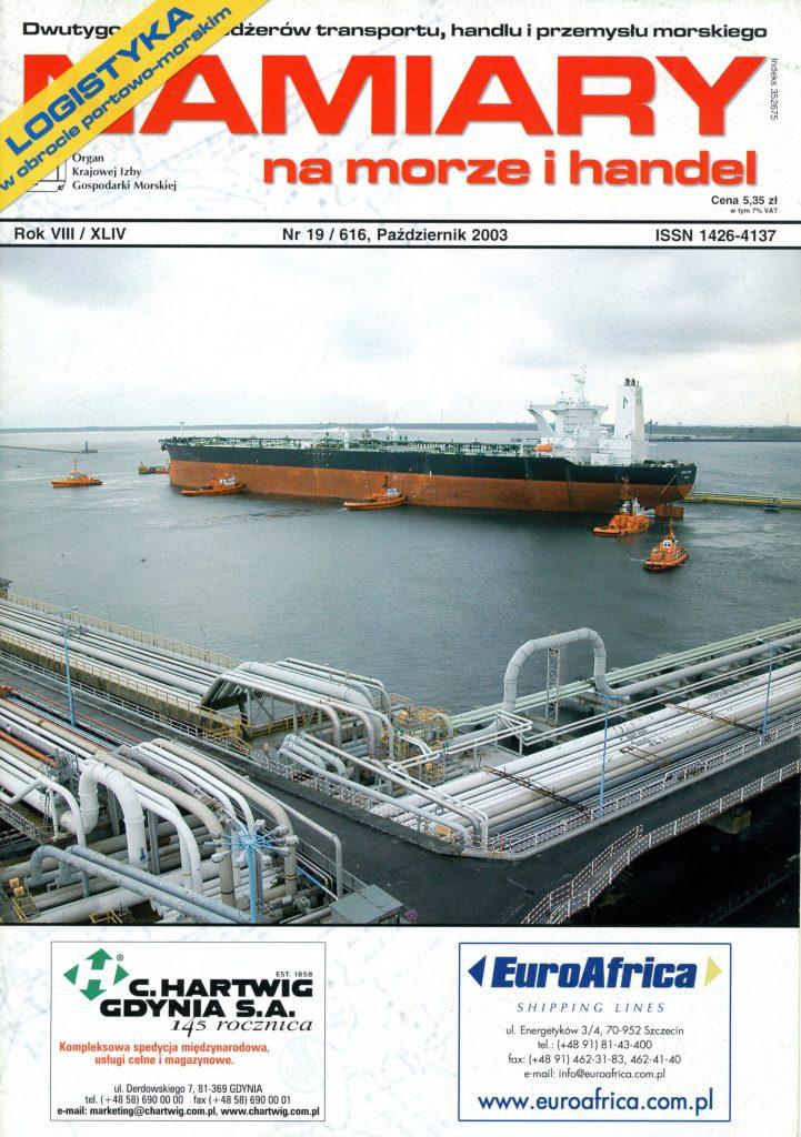 NAMIARY NA MORZE I HANDEL: dwutygodnik menedżerów transportu, handlu i przemysłu rybnego