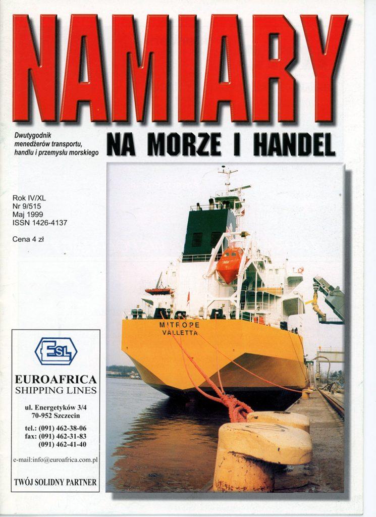 Namiary na morze i handel. - 1999, nr 6