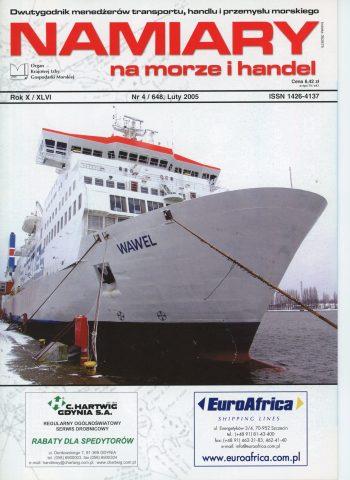 NAMIARY MORZE I HANDEL: dwutygodnik menedżerów transportu, handlu i przemysłu morskiego