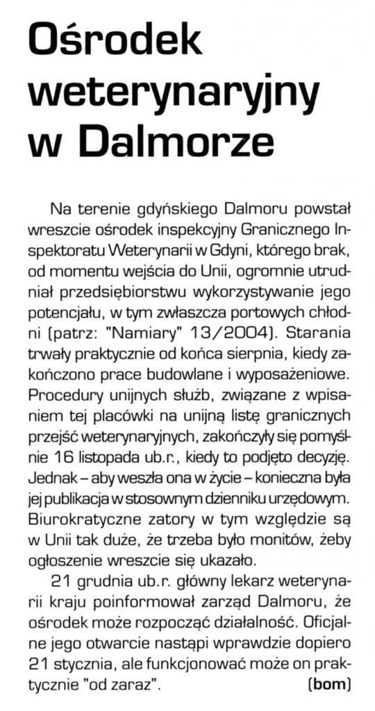 Ośrodek weterynaryjny w Dalmorze