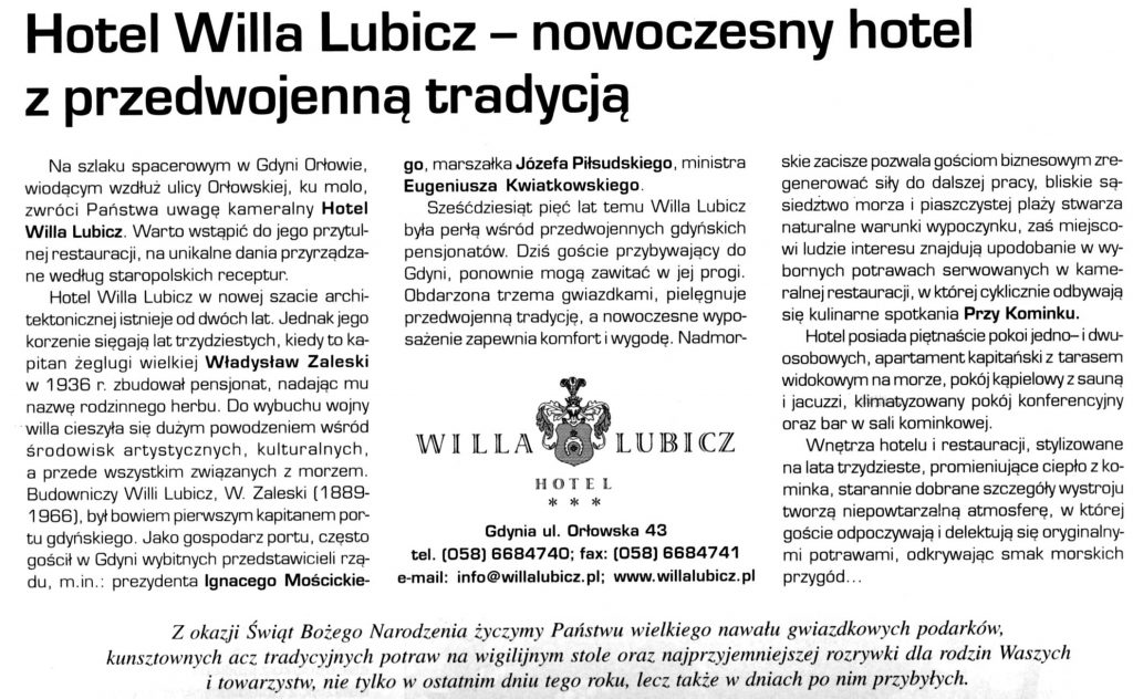 Willa Lubicz - nowoczesny hotel z przedwojenną tradycją