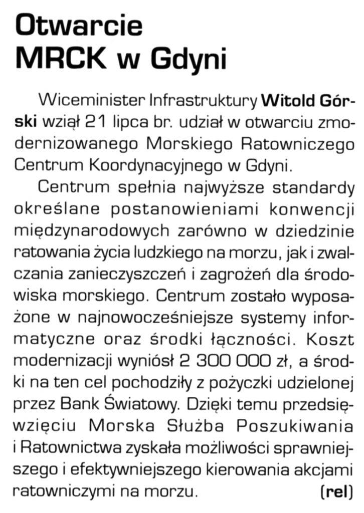 Otwarcie MRCK w Gdyni