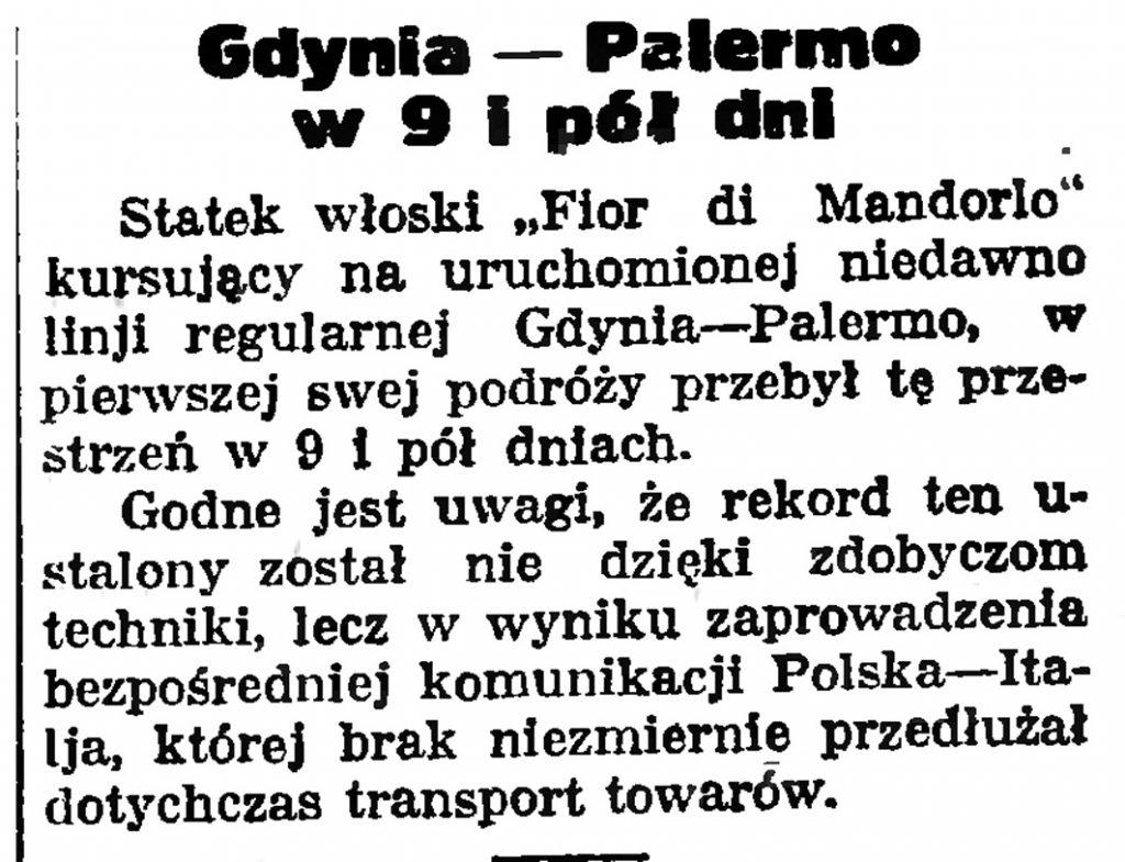 Gdynia - Palermo w 9 i pół dni