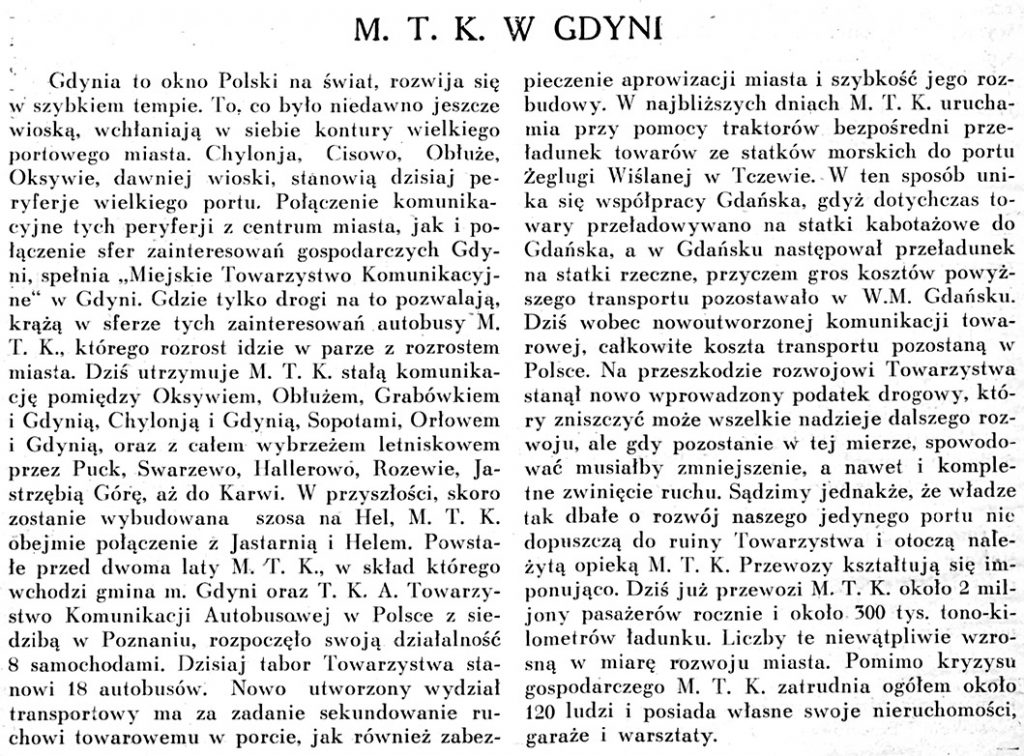 M. T. K. w Gdyni