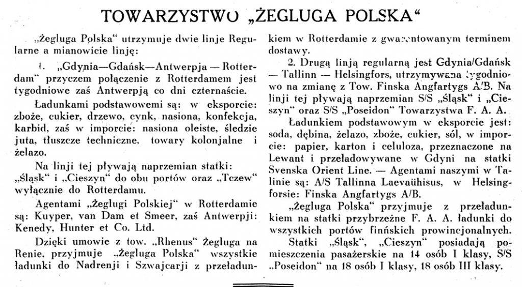 Towarzystwo ŻEGLUGA POLSKA