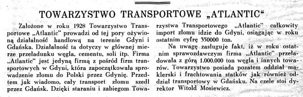 Towarzystwo Transportowe ATLANTIC