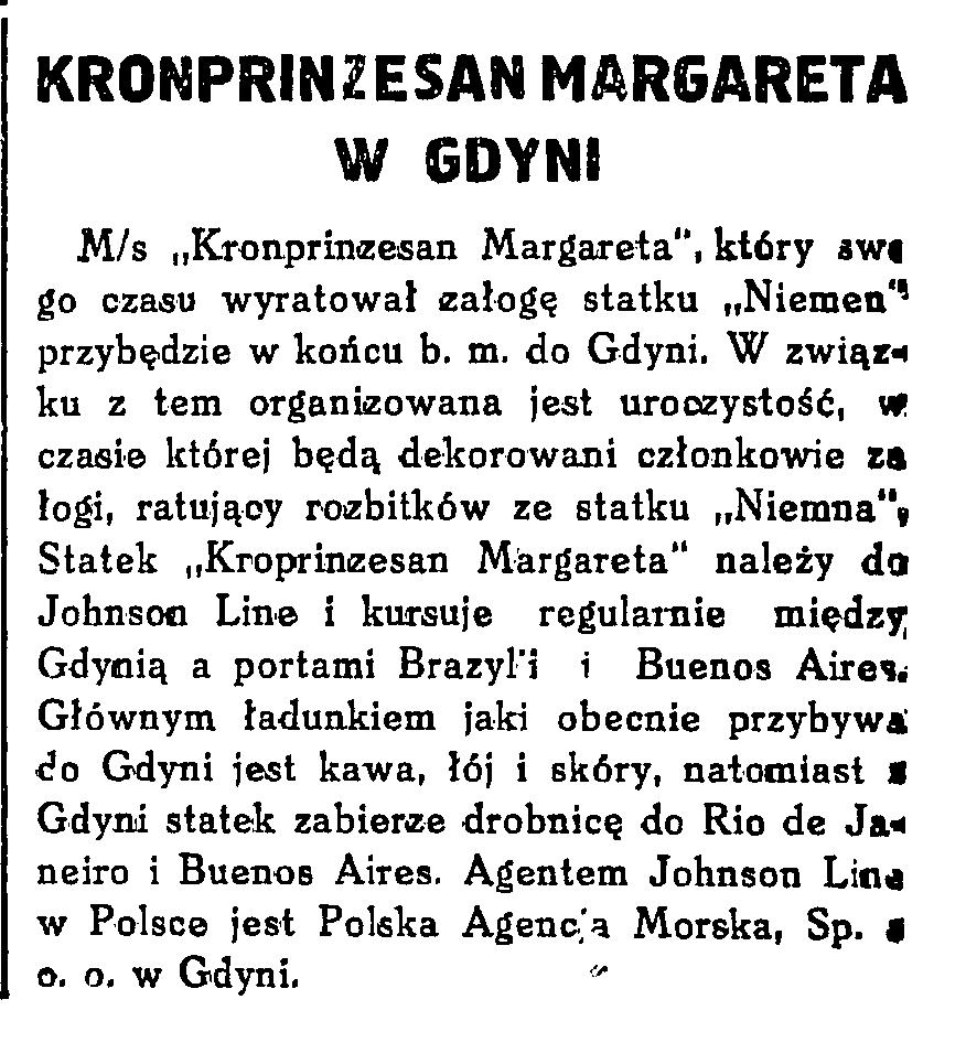 Kronprinzesan Margareta w Gdyni
